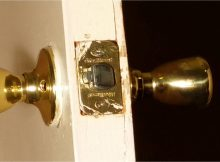 A Quick And Easy Fix To Your Loose Door Latch Face Plate Or throughout proportions 2583 X 1083
