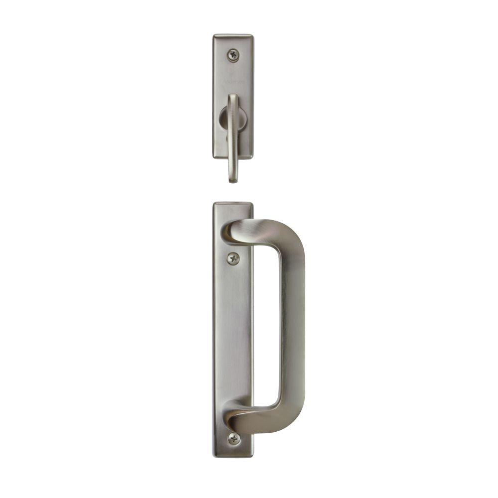 Andersen Anvers 2 Panel Gliding Patio Door Hardware Set In Satin for proportions 1000 X 1000
