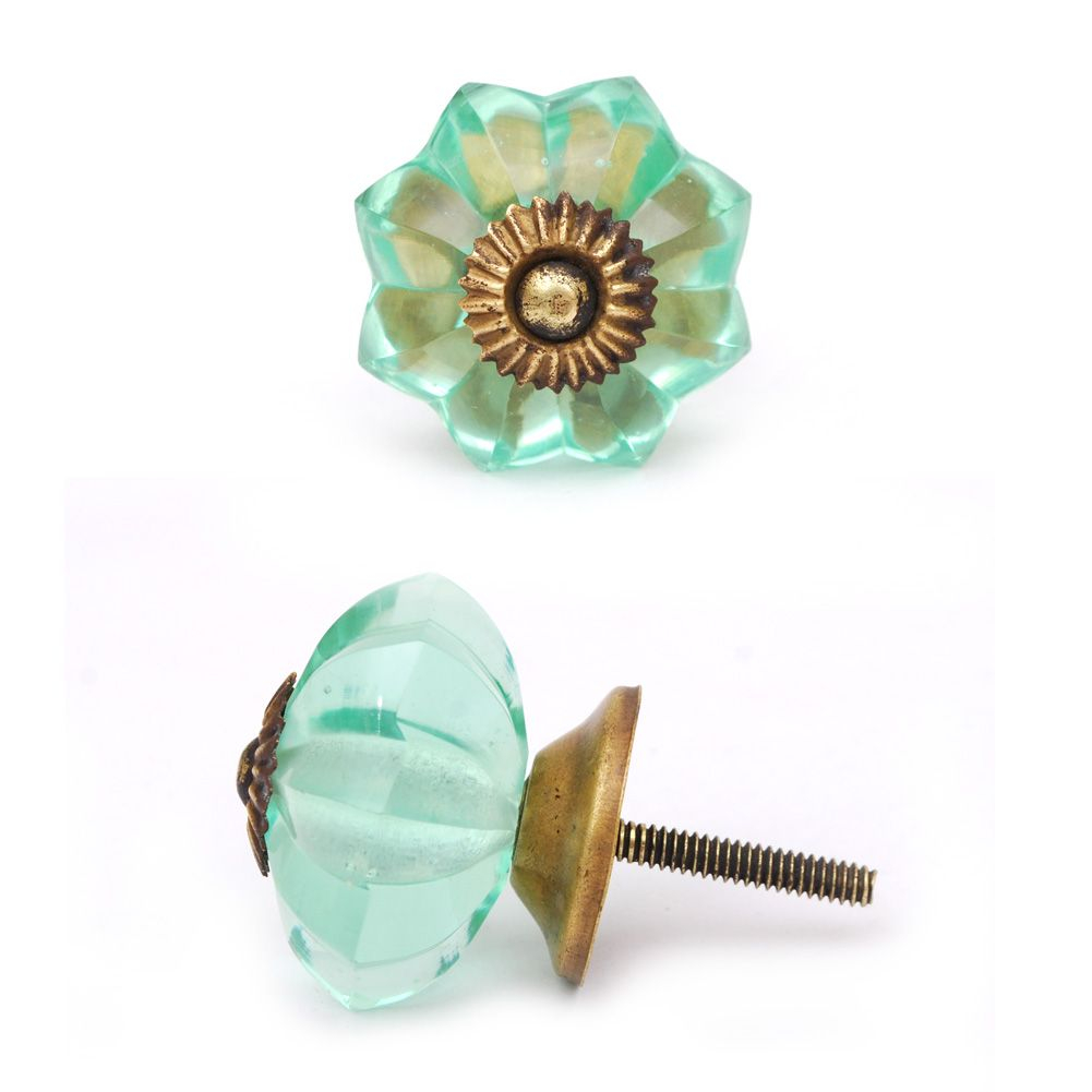 Green Glass Cabinet Knobs Intended Colorful Glass Knobs Sea Foam Green Flower Cabinet Knob Within Dimensions 1001 Colored Drawer Ideas Site