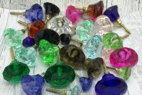 Coloured Faceted Glass Cupboard Door Knobs Drawer Pull G Decor in proportions 900 X 900
