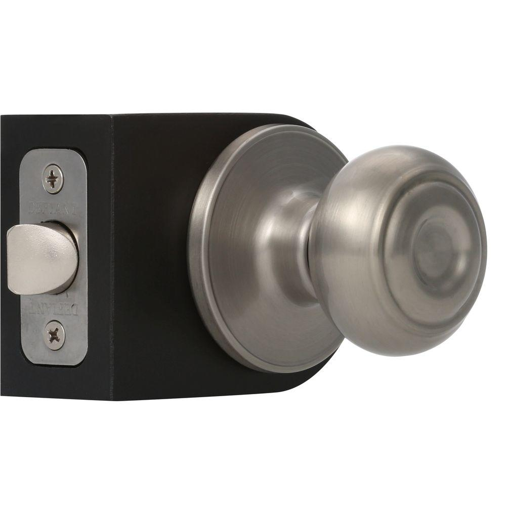 Defiant Hartford Satin Nickel Passage Hallcloset Door Knob Tgx230 intended for sizing 1000 X 1000