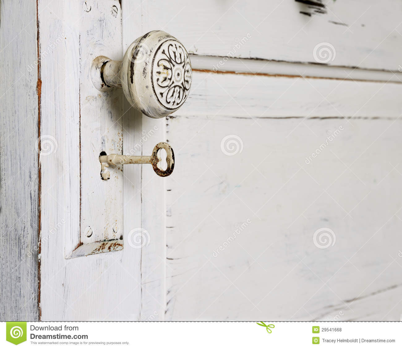 Door Knob And Skeleton Key Stock Photo Image Of Chipped 29541668 with proportions 1300 X 1130