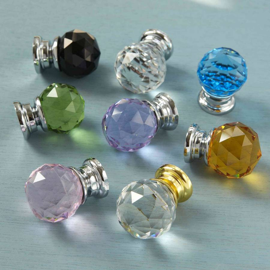 Attrayant Faceted Crystal Glass Cupboard Door Knobs Pushka Home Pertaining To Sizing  900 X 900