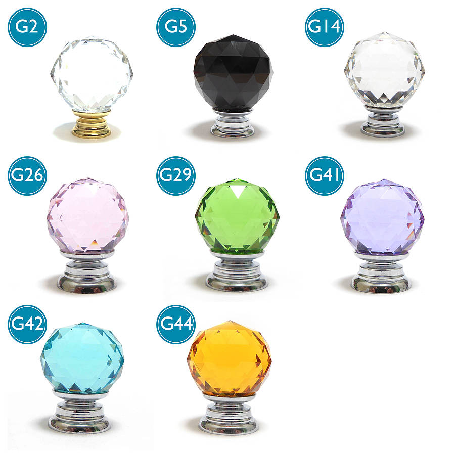Merveilleux Faceted Crystal Glass Cupboard Door Knobs Pushka Home Within Measurements  900 X 900