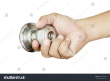 Hand On Door Knob Isolated On Stock Photo Royalty Free 314087696 for measurements 1500 X 1101