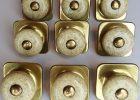 Keeler Brass Drawer Round Speckled Porcelain Square Back Gold Knob with proportions 1500 X 1469