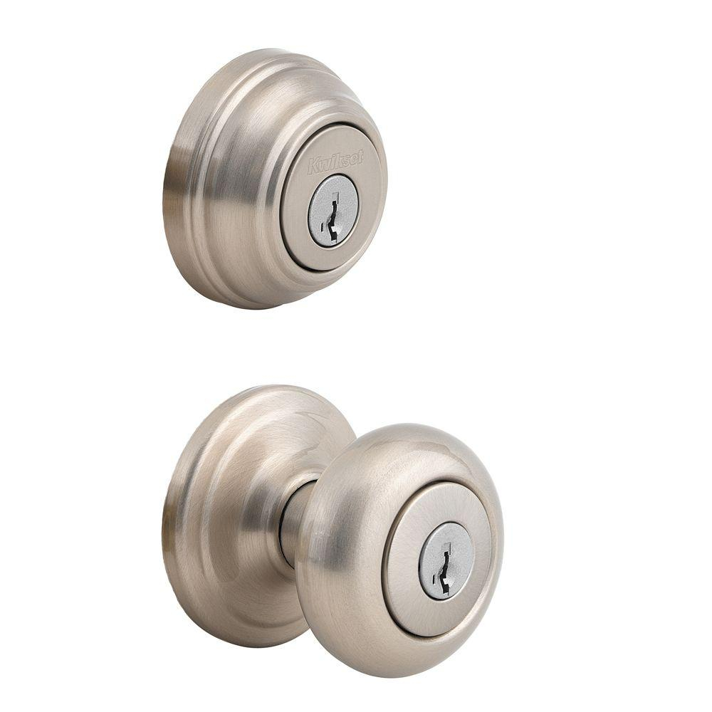 Kwikset Juno Satin Nickel Exterior Entry Door Knob And Double in sizing 1000 X 1000