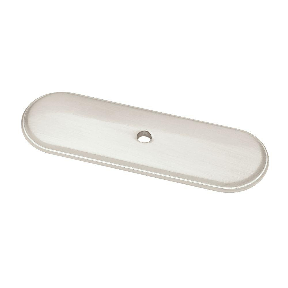 Liberty 3 In Satin Nickel Raised Oval Cabinet Knob Backplate Inside Size  1000 X 1000
