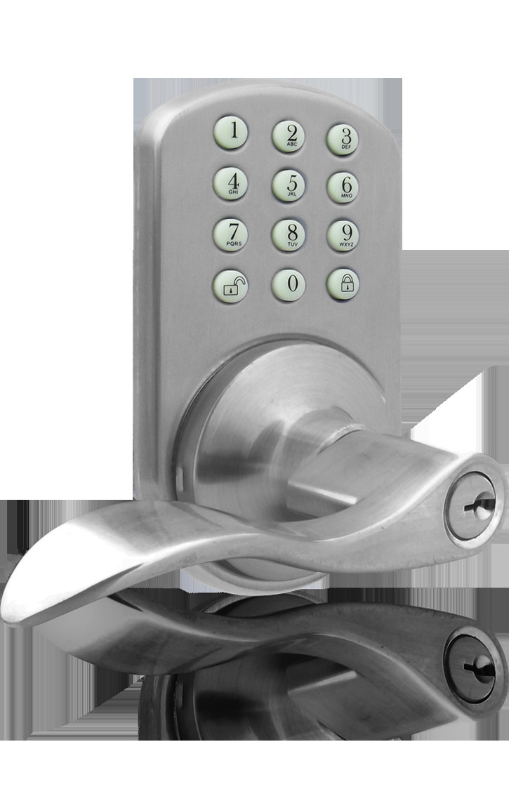 Milocks Tkl 02 Keyless Entry Lever Handle Door Lock With Electronic  Intended For Measurements 725 X