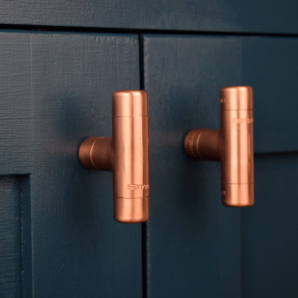 Modern Copper T Contemporary Drawer Pull Handle With Regard To Size 1024 X
