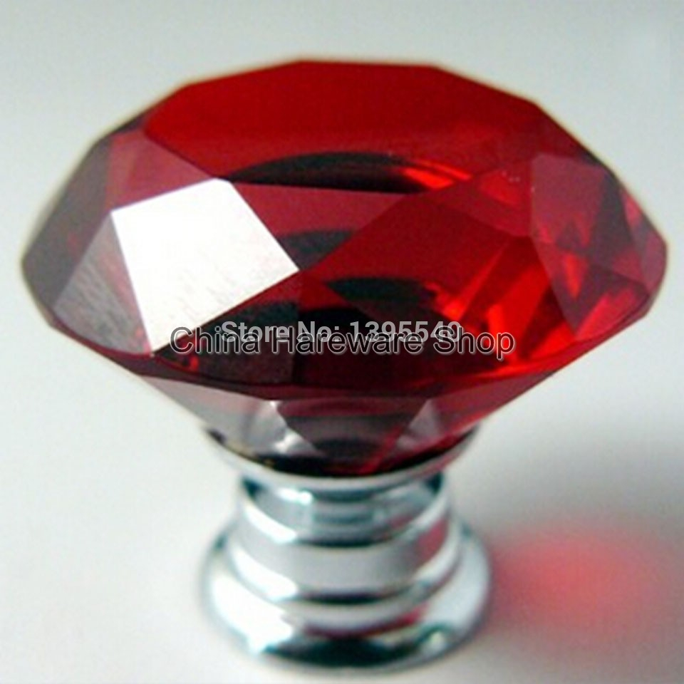 New Red Crystal Cabinet Drawer Knobs Diamond Shape Wardrobe Closet within sizing 960 X 960