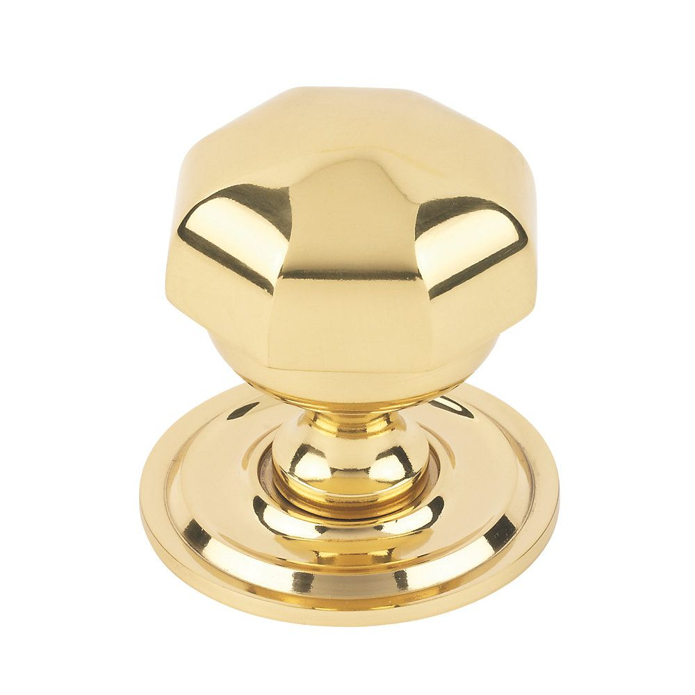 Octagonal Centre Door Knob Polished Brass Centre Door Knobs for sizing 1000 X 1000