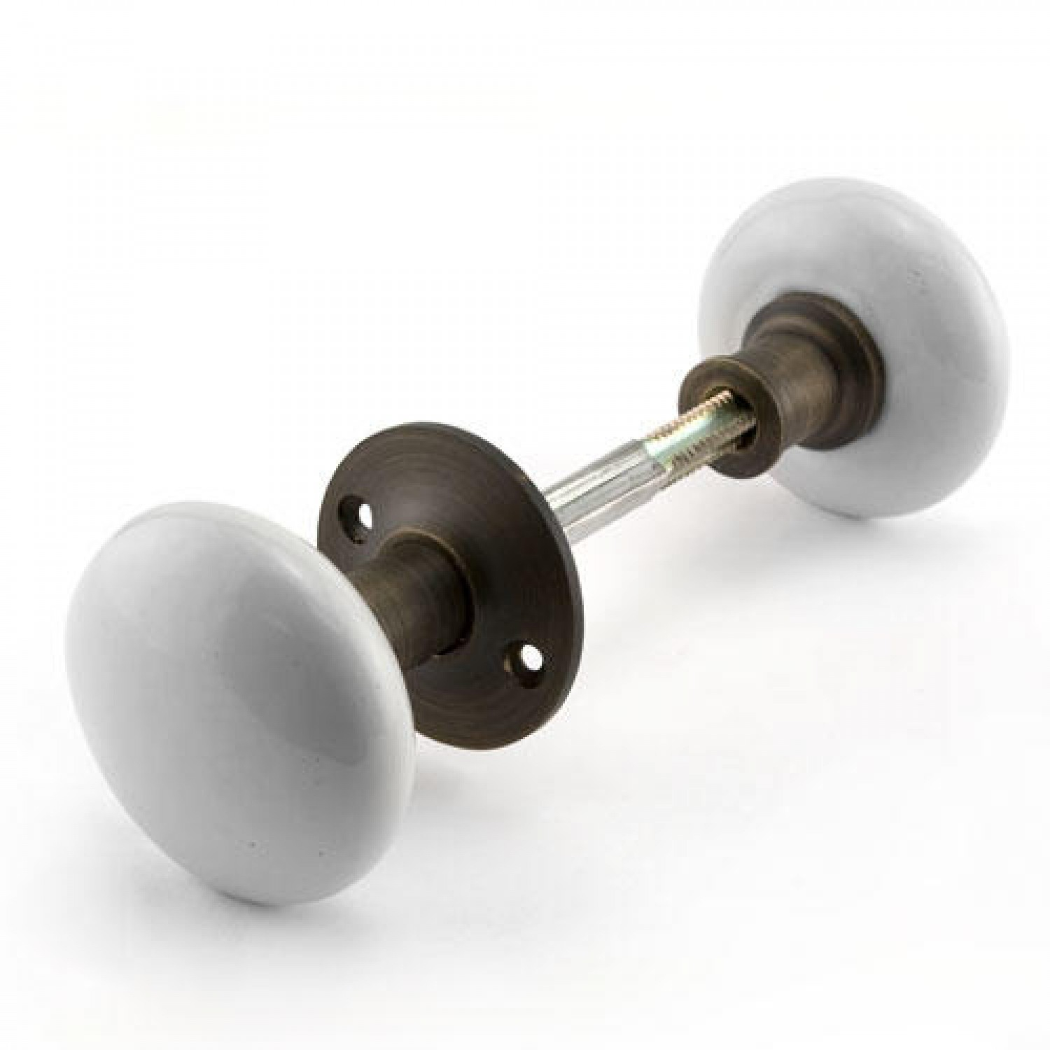 Pair Of White Porcelain Doorknobs For Rim Locks Hardware pertaining to measurements 1500 X 1500