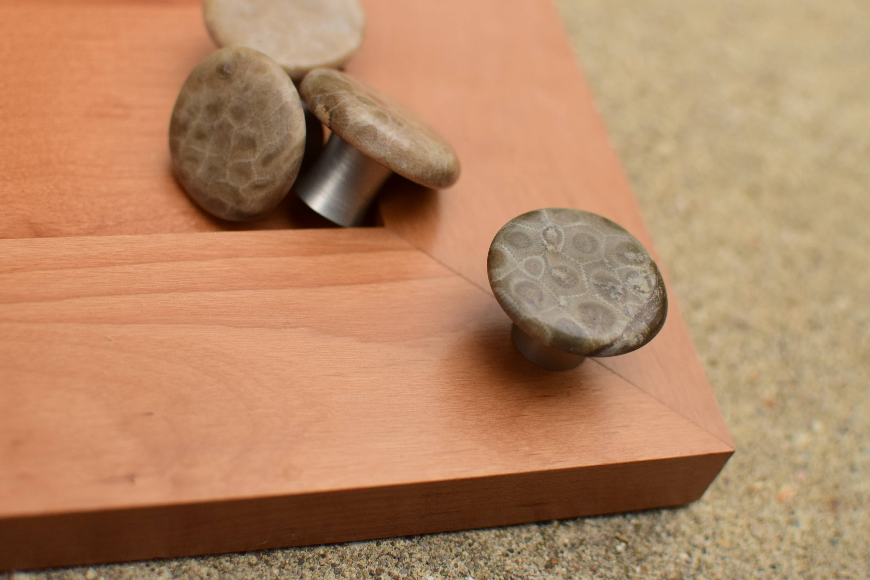 Petoskey Stone Cabinet Knob Rock Drawer Pull Fossil Knob For Size 3000 X  2000