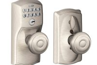 Schlage Georgian Satin Nickel Keypad Electronic Door Knob With intended for size 1000 X 1000