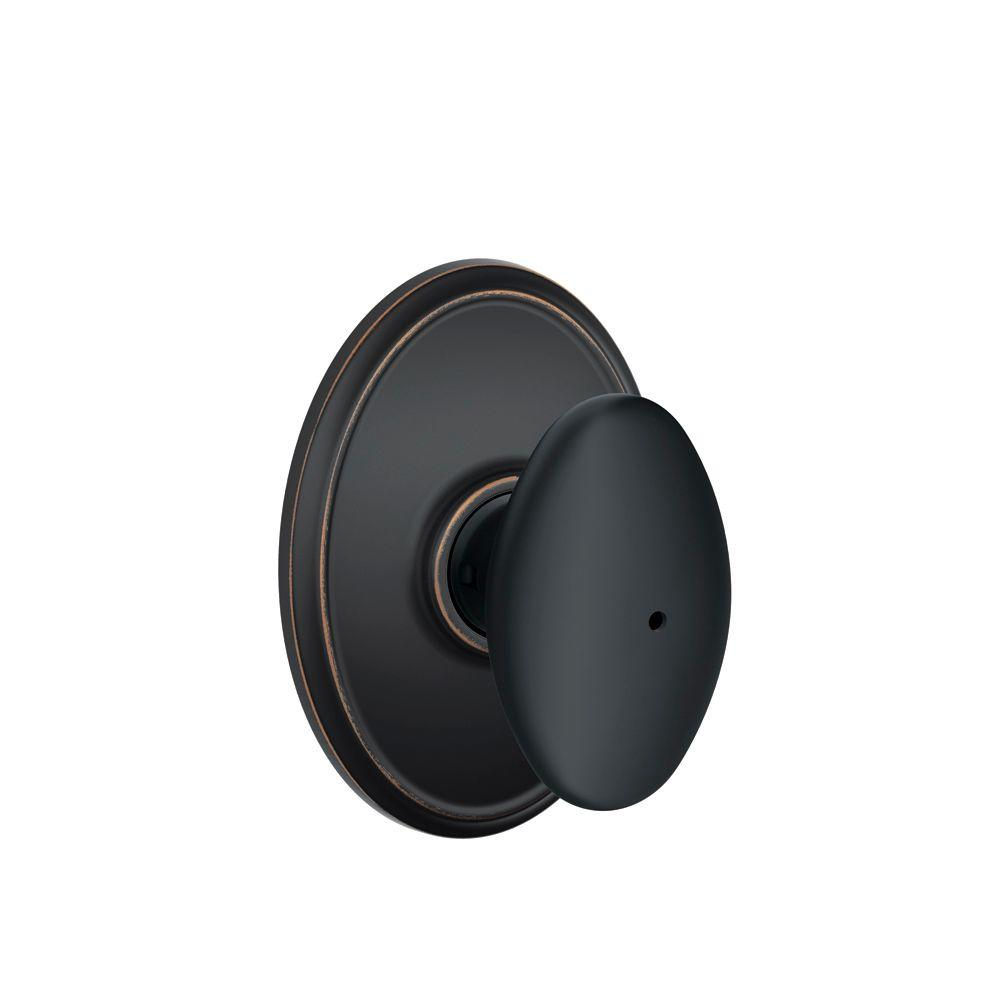 Schlage Siena Aged Bronze Privacy Bedbath Door Knob With Wakefield With  Measurements 1000 X 1000