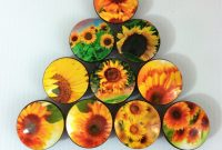Set Of 10 Oversized Sunflower Fields Cabinet Knobs Handmade Knobs in measurements 1304 X 1500