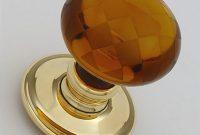 Snobsknobs Amber Glass Chequerboard Door Knobs Snobsknobs with regard to sizing 1694 X 1696