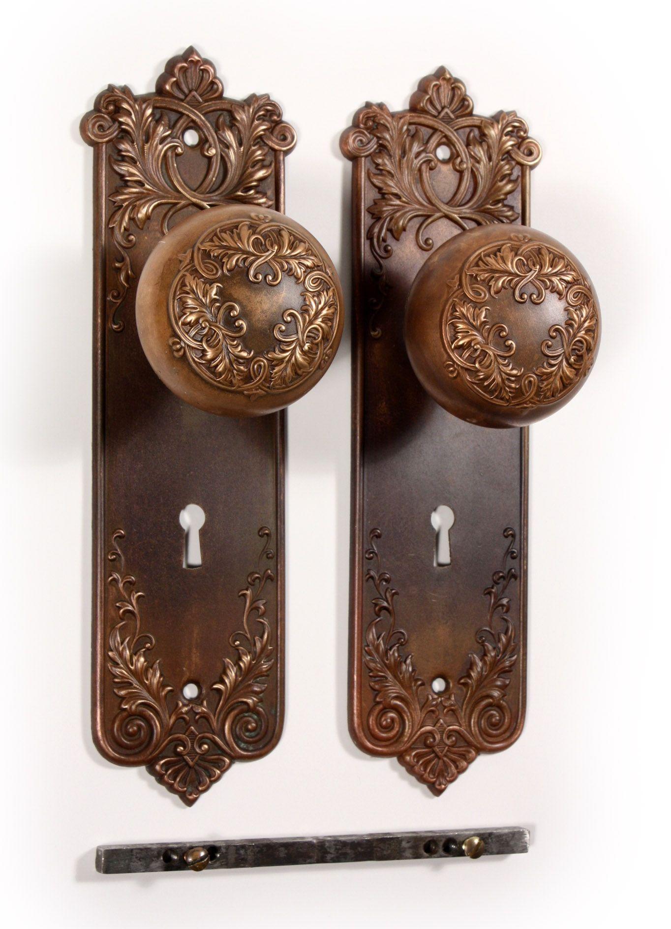Antique Door Knob Backplates Knobs Ideas Site