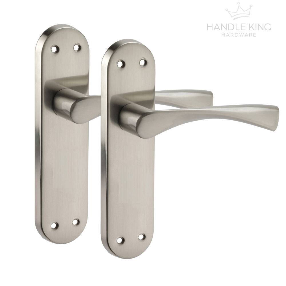 Winged Internal Chrome Door Handles On Backplate Brushed Chrome for proportions 1000 X 1000