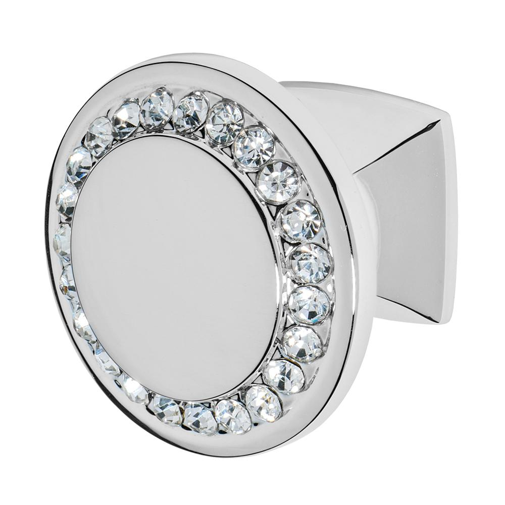 Wisdom Stone Isabel 1 14 In Chrome With Clear Crystal Cabinet Knob for sizing 1000 X 1000