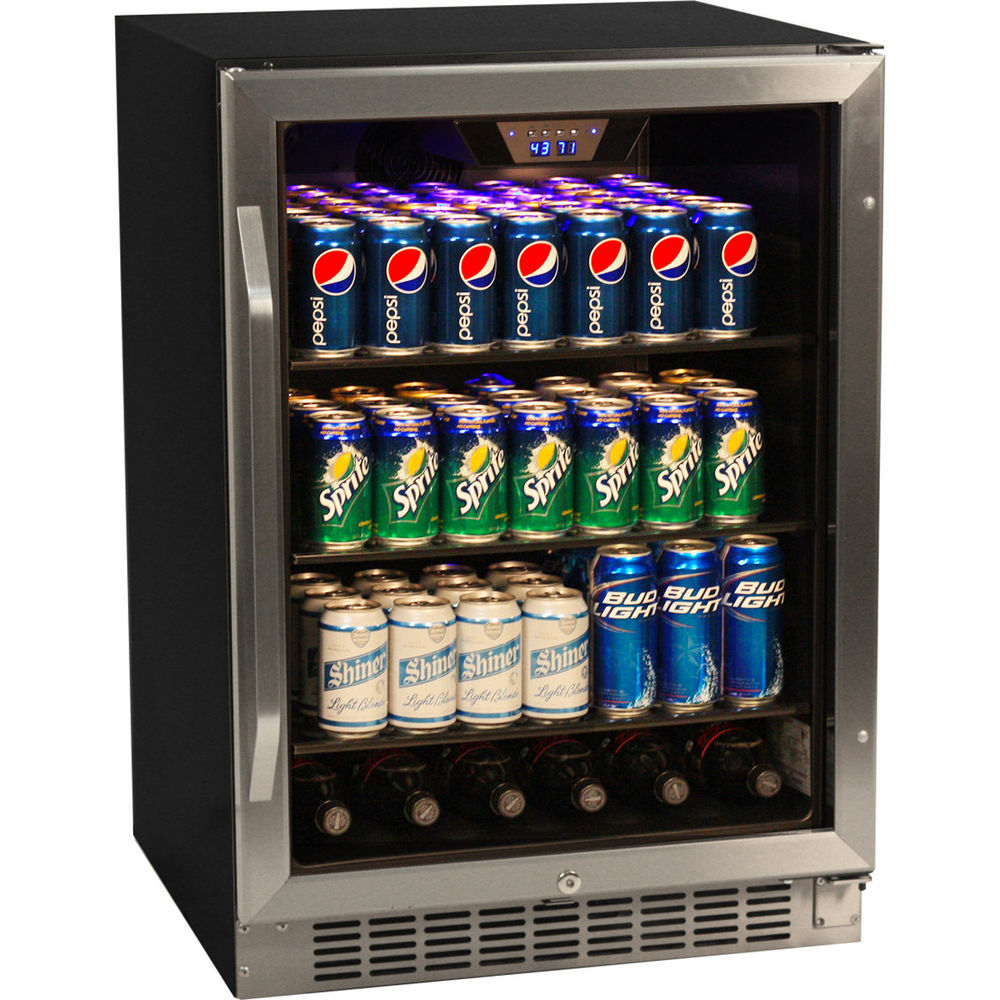 148 Can Glass Door Refrigerator Stainless Steel Beverage Cooler inside sizing 1000 X 1000
