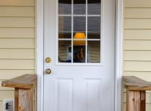 A Simple White Steel Provia Side Entry Door With Two Embossed Panels in measurements 1000 X 1377