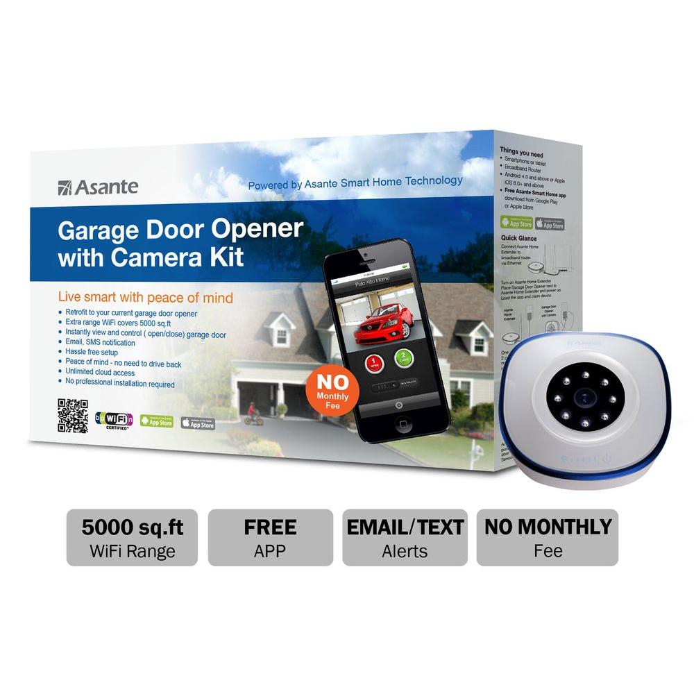 Asante Garage Door Opener With Camera Kit Live Streaming 99 00900 for dimensions 1000 X 1000