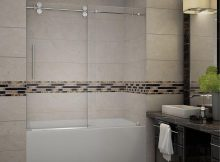 Aston Langham 60 In X 60 In Completely Frameless Sliding Tub Door with dimensions 1000 X 1000