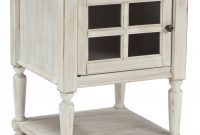 Chair Side End Table With Window Pane Style Framed Glass Door throughout dimensions 1350 X 1542