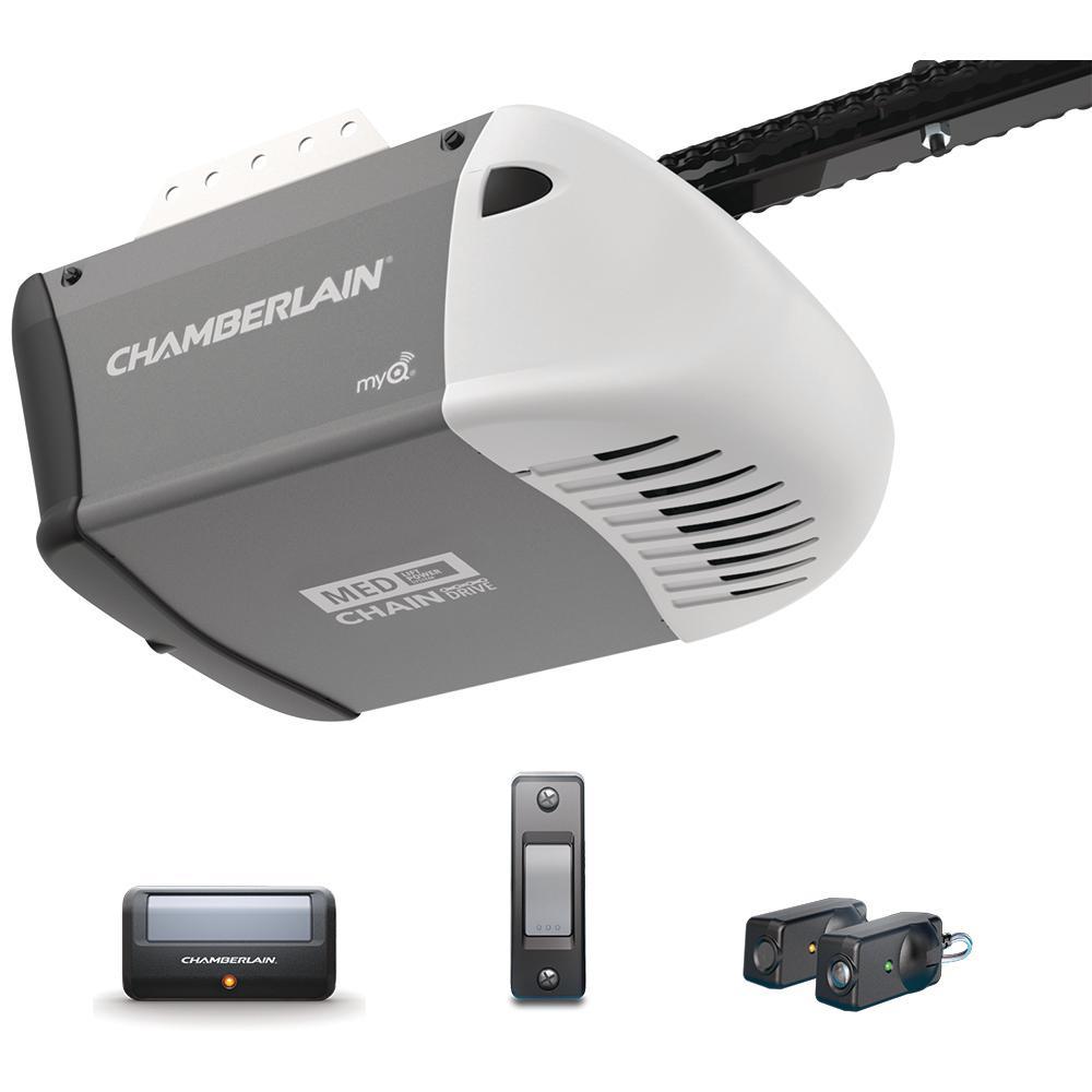 Chamberlain 12 Hp Heavy Duty Chain Drive Garage Door Opener C205 with regard to sizing 1000 X 1000