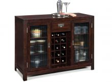Dark Brown Wooden Cabinet With Double Frosted Glass Doors And with proportions 1800 X 1752