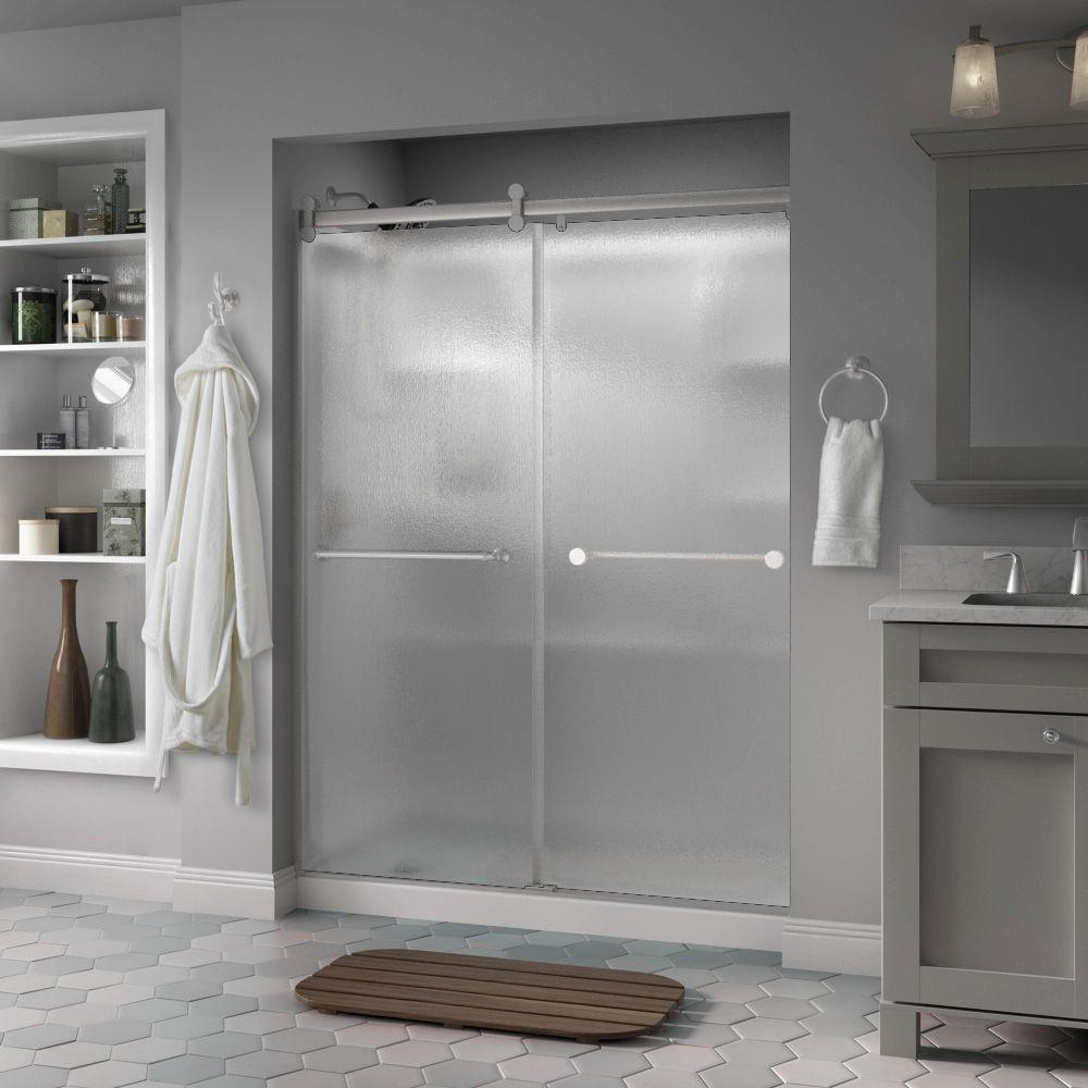 Delta Mandara 60 In X 71 In Semi Frameless Contemporary Sliding with regard to proportions 1000 X 1000