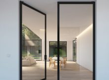 Double Glass Door With Steel Look Frames Portapivot H O M E within measurements 1462 X 2048