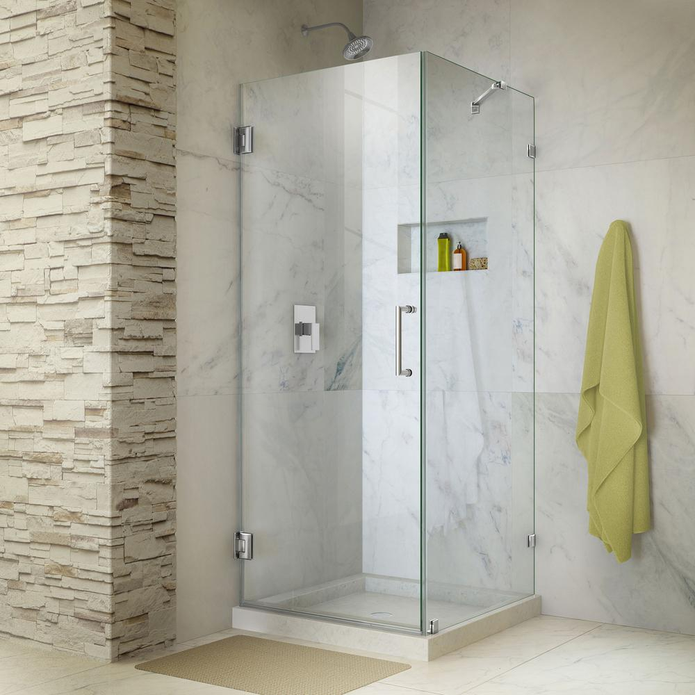 Dreamline Unidoor Lux 30 In X 30 38 In X 72 In Frameless Corner regarding dimensions 1000 X 1000
