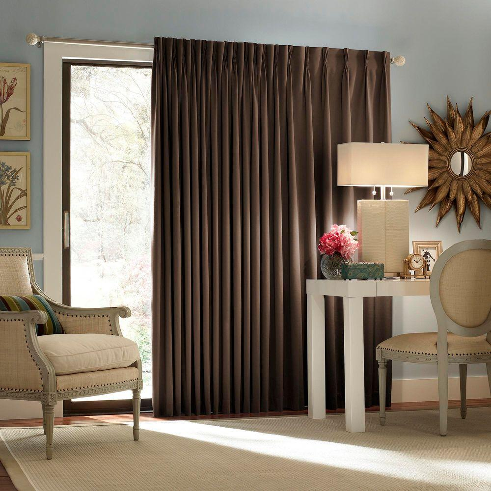 Eclipse Blackout Thermal Blackout Patio Door 84 In L Curtain Panel pertaining to proportions 1000 X 1000
