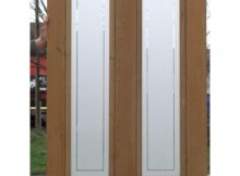 Ed003 4 Panel Etched Glass Door With Clear Border Round Glass throughout size 1000 X 1000