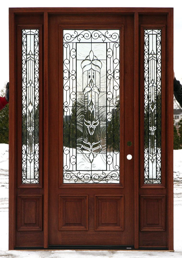 Exterior Doors With Glass Front Doors With Wrought Iron And Glass pertaining to measurements 760 X 1080