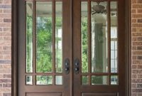 Front Door Custom Double Solid Wood With Walnut Finish Classic in size 1076 X 1500