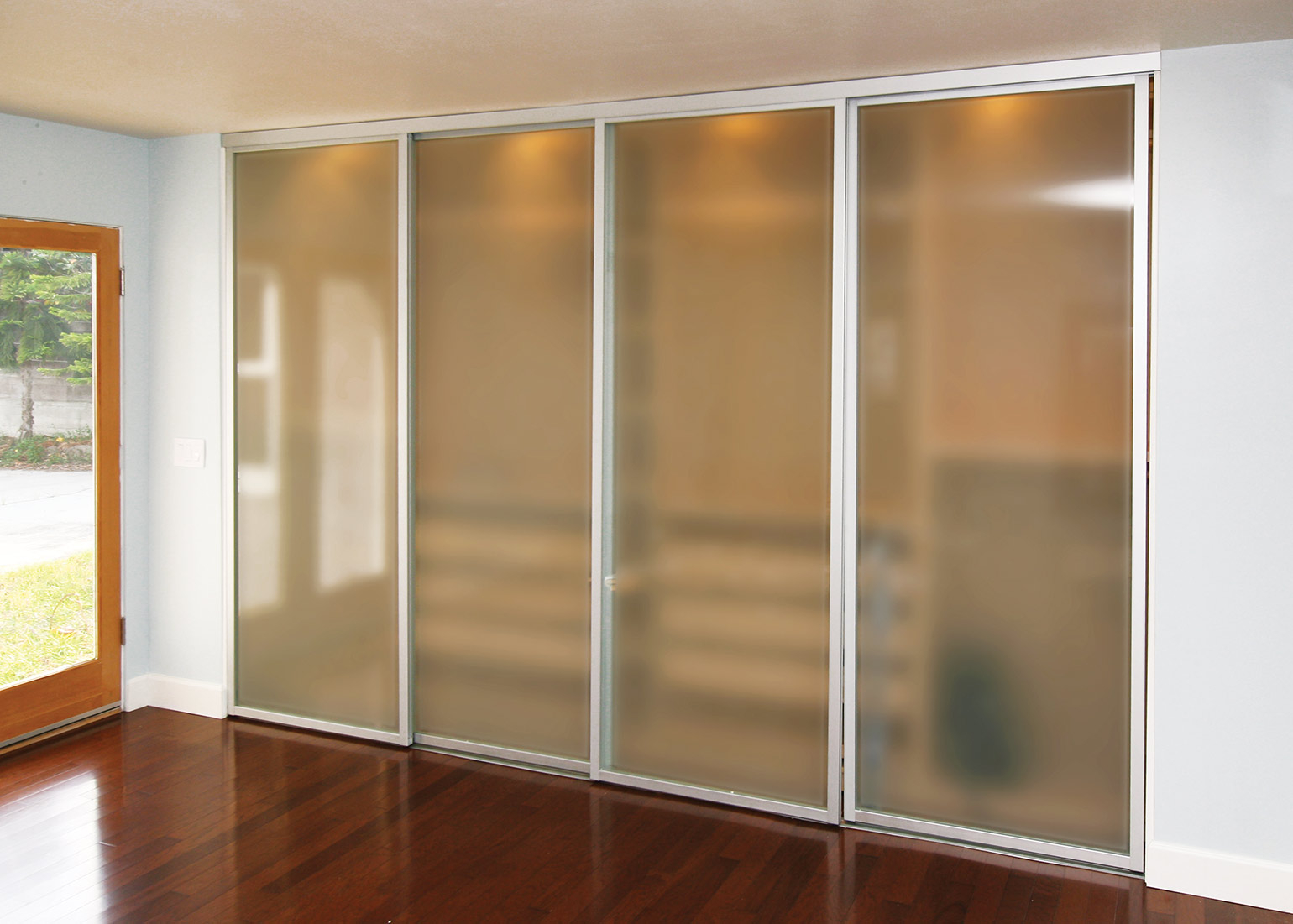 Frosted Glass Sliding Closet Doors With Silver Frame Inspirational inside proportions 1540 X 1101