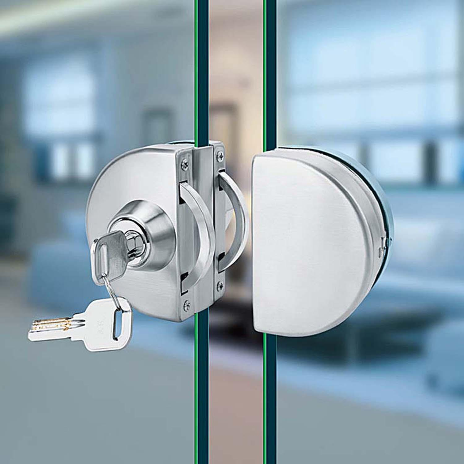 Gd03ss Glass Door Lock Stainless Steel Without Hole Bidirectional for measurements 1500 X 1500