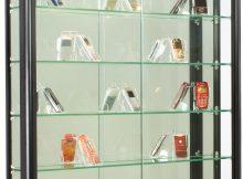 Illuminated Wall Display Cabinet Black Aluminum Framing regarding size 953 X 1200