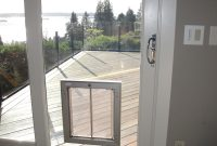 Magnificent A Seamless Doggy Door Install Into Glass Doggie Stuff within sizing 3000 X 4000