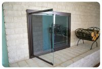 Masonry Fireplace Glass Doors Free Shipping Mesh Curtain Included in measurements 1559 X 1059