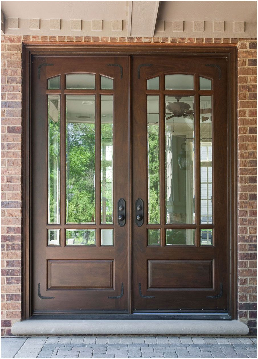 Modern Double Front Door Design With Glass Interior Design Ideas with regard to proportions 906 X 1261