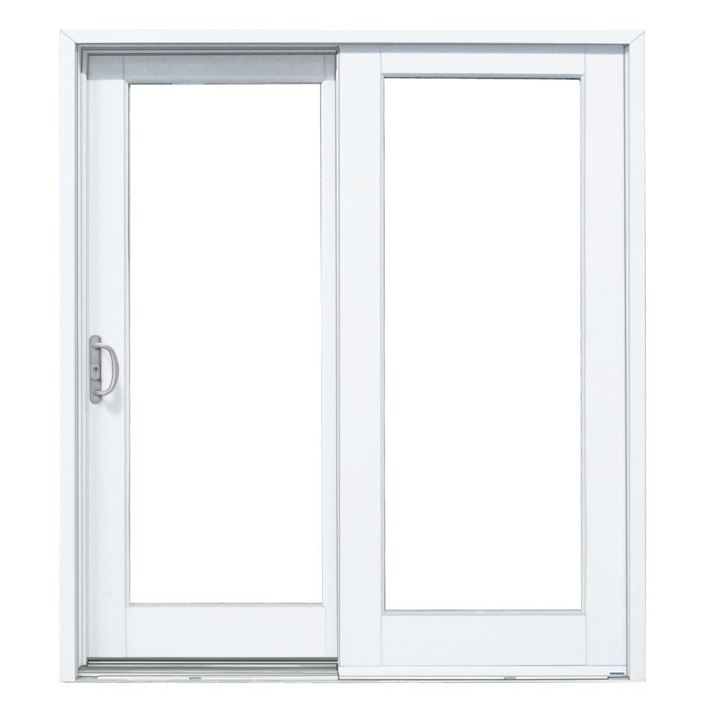 Mp Doors 60 In X 80 In Smooth White Left Hand Composite Sliding within sizing 1000 X 1000
