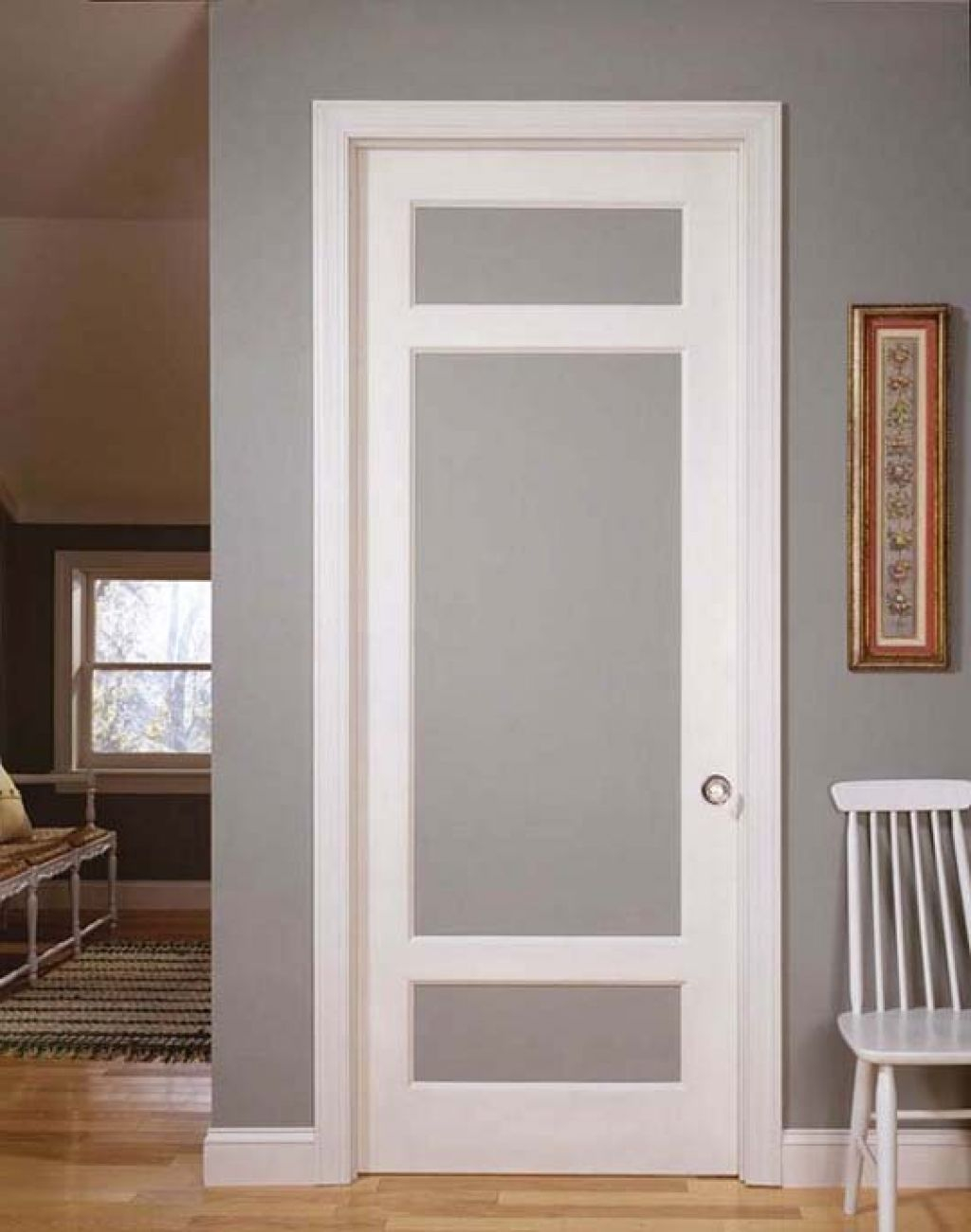 Simple Vintage Styled Interior Doors With Frosted Glass And Using pertaining to proportions 1024 X 1300
