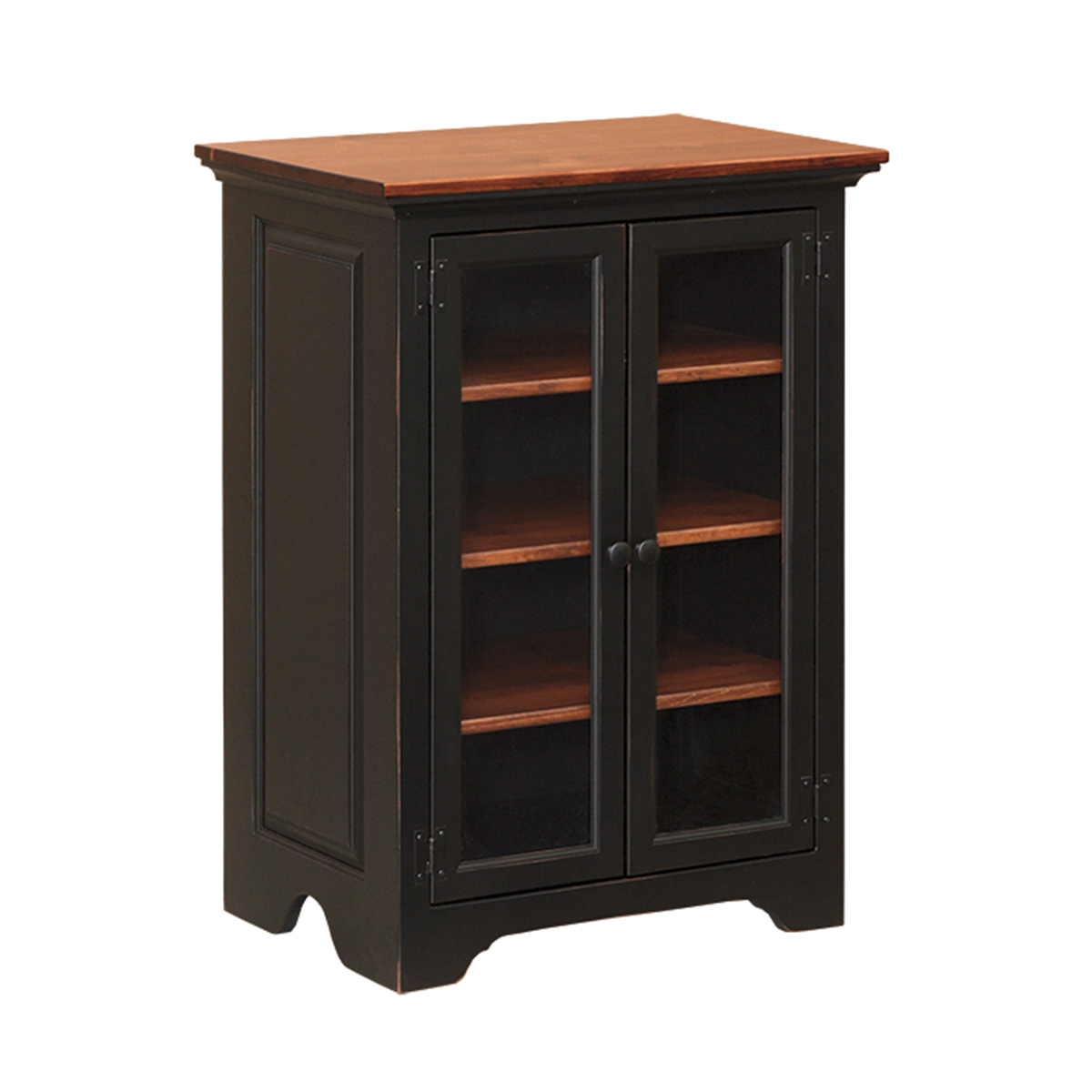 Stereo Cabinet With Glass Doors Peaceful Valley Amish Furniture for size 1200 X 1200