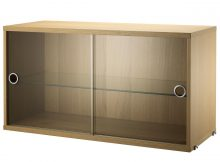 String System Display Cabinet With Sliding Glass Doors Oak Veneer pertaining to proportions 1200 X 900
