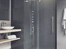 Vigo Elan 48 X 74 Single Sliding Frameless Shower Door Reviews with regard to sizing 1500 X 1500